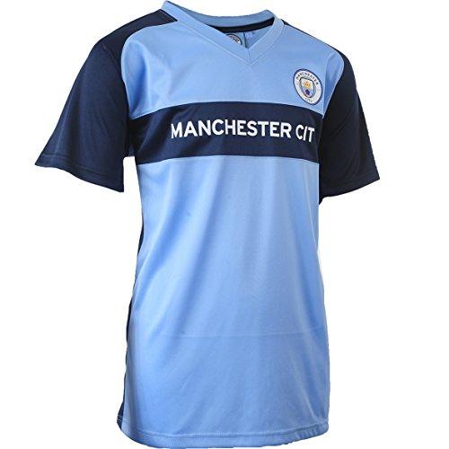 Manchester City F.C. mac-se-6000Set Fußball Kinder XL blau