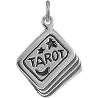 Ciondolo TheCharmWorks in argento Sterling a forma di mazzo di carte da gioco Tarocchi