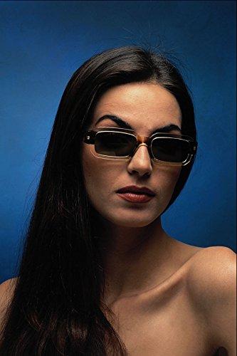749045 Portrait Of A Brunette Wearing Sunglasses A4 Photo Poster Print 10x8
