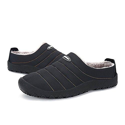 Pantofole Cotone Donna Dintérieur Caldo Uomo Nero Chnhira Mulattiere Pantofole Autunno Con Inverno qEnIY