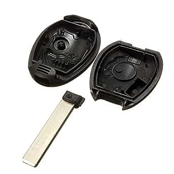 2 Bouton Remplacement télécommande porte clé FOB+ Lame Pour BMW Mini Cooper