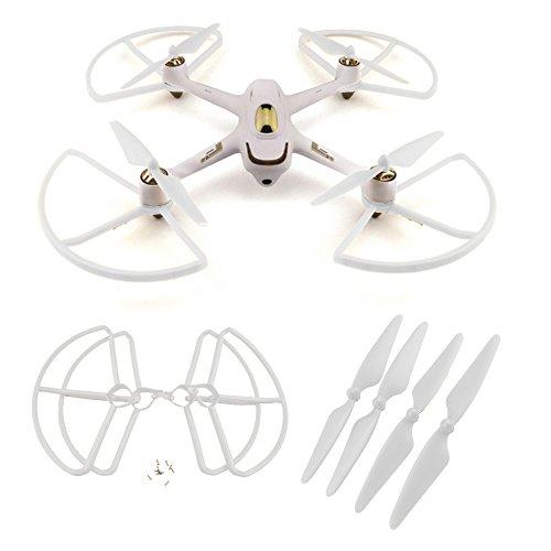 4Pcs Propeller + 4Pcs Shielding Eiderdown Confederation For Hubsan X4 H501S H501C RC Quadcopter Drone Gaunt Parts