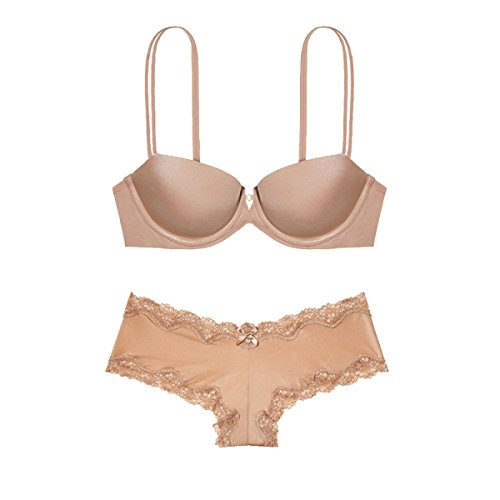 GAZHFERF Damen Dessous Set Plus-BH Und Panty Set Beige