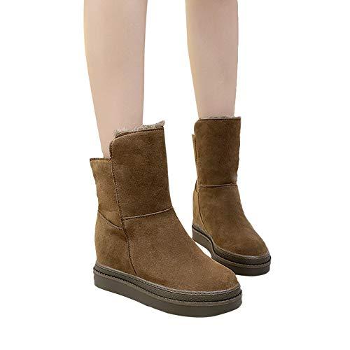 TianWlio Stiefel Frauen Herbst Winter Schuhe Stiefeletten Boots Mode Dicke Sohlen Schneestiefel Mit Zwei Baumwollschuhen Plus Samt Boots
