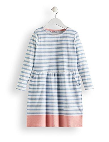 RED WAGON Mädchen Kleid mit Streifen, Mehrfarbig (Blue & White), 104 (Herstellergröße: 4)