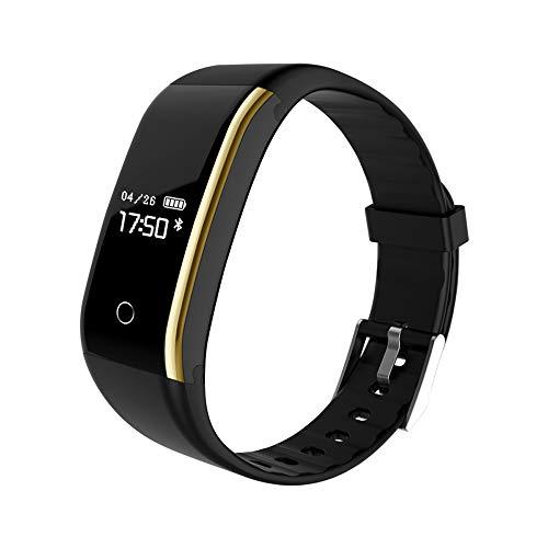 Niocase Smart Armband Sport Fitness Tracker, Touch Smart Armband mit Pulsmesser Schlaf Monitor Schrittzähler Kalorienzähler für Android IOS iPhone Schwarz