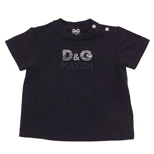 Dolce & Gabbana 7406T Maglia Bimbo D&G JUNIOR blu Scuro t-Shirt Kid [6/9 Months]