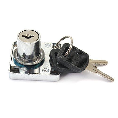 luminium Sperre 20mm + 2 Schlüssel für Home Office Safty Schublade Schrank Schrank diebstahl Zubehör