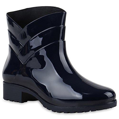Damen Gummistiefel Profilsohle Stiefel Regen 124121 Dunkelblau Carlton 41 - 5 Zweite Kostüm