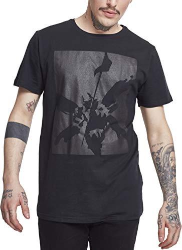 MERCHCODE Herren Linkin Park Street Soldier Tonal Tee T-Shirt, Black, L