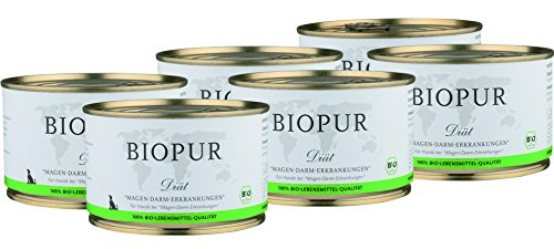 BIOPUR-Bio-Ditfutter-bei-Magen-Darm-Erkrankungen-fr-Hunde-6x400g