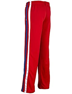 Unisex Rojo Brasil Capoeira Artes Marciales Abada Elástico Pantalones 5 Tallas (M)