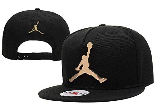 Cappello Air Jordan regolabile Hip Hop Sport Fans Hyst Unisex eresen cappellino da Baseball (Nero, Logo ferro, 2)