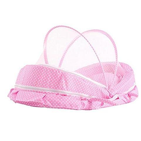 Krippe tragbare Falten Krippe Netze Krippe tragbare Falten Krippe Neugeborenen Babybett (Pink) (Pferd Neugeborene Krippe)