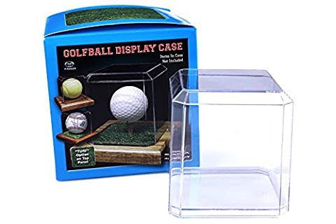 Display Case with Wooden Base for Golf