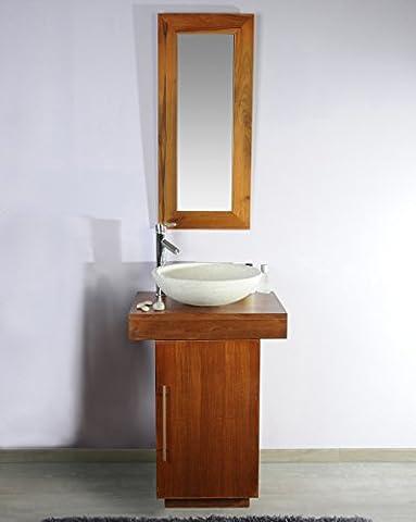 Saniteck france - Meuble salle de bain teck 60 Eros