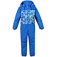 LPATTERN Traje de Esquí para Niños/Niñas 1 Pieza Impermeable para Deportes de Nieve, Azul, Talla:134/7-8 años