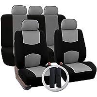 12 Unids/Set Four Seasons Cojines de Asiento de Coche universales Automóviles Cubiertas de Asiento de Coche Almohadillas para cinturón Interior Auto Vehículos Suministros - Gris