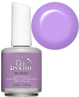 Ibd Just Gel Soak Off Led Uv Gel Nail Polish Varnish My Babe Lilac Purple 14ml