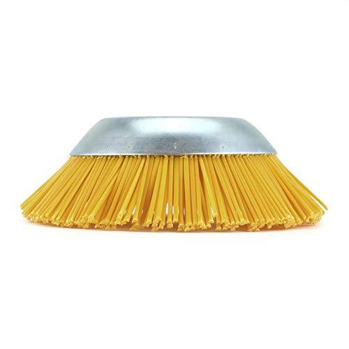 Gelb Aussendurchmesser 200 mm Innenbohrung 25,4 mm Nylon Wildkrautbürste Universal-Trimmerkopf kreissäge Durable Gartengeräte