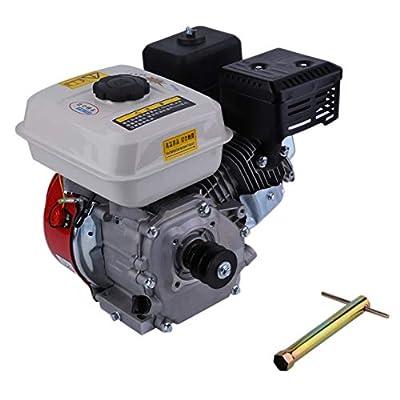 EmNarsissus 7,5-PS-Recoil-Starter 168F Benzinmotor Einzel-Zyliner Luftgekühlter 4-Takt-Motorzubehör (Schwarz & Silber & Weiß)