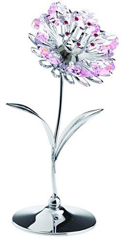 Fiore miniatura - color argento - crystocraft perle di swarovski® - regalo oggetto di decorazione
