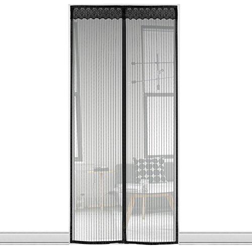Axmda zanzariera magnetica, dimensione 100 x 210cm, tenda di velo fitto anti-zanzara, silenziosa magnetica per porte in legno, d'ingresso, cortili,alluminio, (per porte misura max 96x208cm)