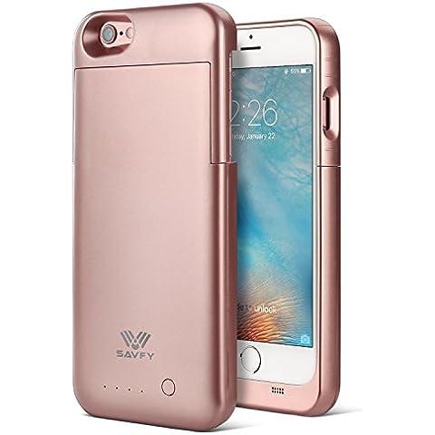 Funda Batería iphone 6 / 6s , SAVFY® Tercera Generación 3200mAh Certificado MFi de Apple Funda Carcasa Con Batería Cargador-batería para iphone 6 / 6s (Rosado)