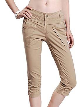 Keephen Pantaloni lunghi a righe da donna - Pantaloni da donna a vita bassa Pantaloni da gamba svasati