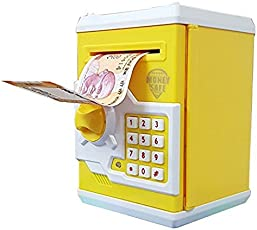 Protokart Electronic Piggy Bank Password Lock Money Safe for Coins and Notes Collecting, Assorted Colour and Design (Character for Boys)