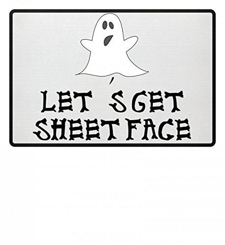 Get Sheet Face - Geist - Happy Halloween - Geschenk - Funny Gift Idea Hochwertige Fußmatte - (40 S Halloween Kostüm Ideen)