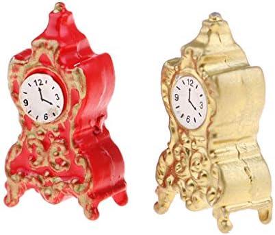MagiDeal 1/12 Dollhouse 2pcs Miniature Pendulette en en en Métal Décor Maison de Poupée B07GMDHG5M b9d21a