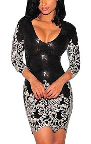 sunifsnow-women-sexy-black-gold-silver-sequins-3-4-sleeves-retro-bodycon-party-dress-silverm