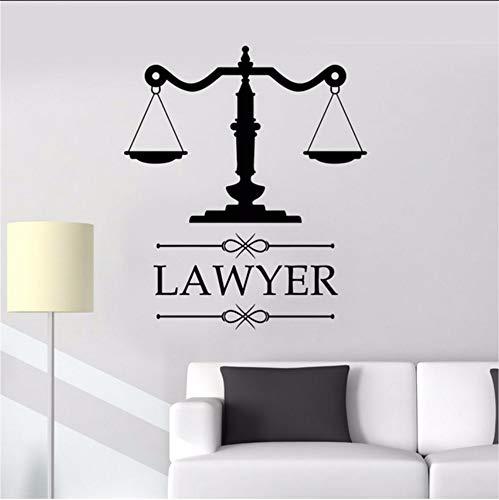 Lvabc Anwaltskanzlei Zeichen Anwalt Rechtsanwalt Büro Vinyl Aufkleber Personalisierte Aufkleber Unternehmen Name Maßstab Der Gerechtigkeit Fenster Dekoration 42X48 Cm