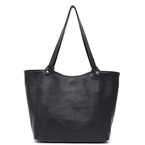 Stepheecath Damen Handtasche mit Innenfutter, Kuhleder, Vintage-Design, groß 13.4