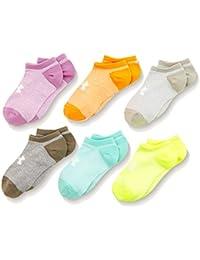 Under Armour Mädchen Ua Girls Solid 6pks Noshow Socken