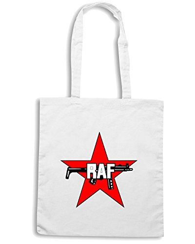 T-Shirtshock - Borsa Shopping TM0387 Rote Armee Fraktion usa Bianco