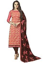 4fb07d52e7 Viva N Diva Un-Stitched Banarasi Cotton Jacquard Dress Material Dupatta For  Women s Punjabi Salwar
