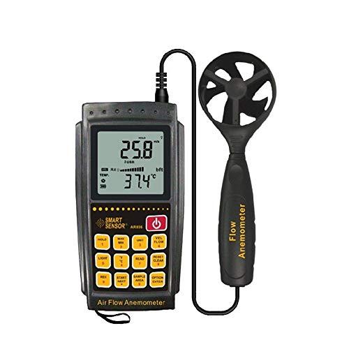 Digitaler Luftströmungs-Anemometer Windgeschwindigkeit Mwter mit LCD-Hintergrundbeleuchtung zur Messung der Windgeschwindigkeit, Temperatur AR856 Meter Scientific Measurement 8800 Lcd