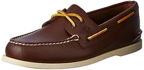 Sperry Authentic Original 2-Eye, Scarpe da Barca Uomo, Marrone (Brown), 44 M