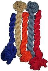 Aurima Women's Multi color Designer Silver Chiffon Kiwi Dupattas for women combo of 5 color set with Bundi Lace (White, Black, Beige, Red, Pink, Navy Blue, Grey, Orange, Royal Blue, Gajri, Yellow, Green, Rani, Dark Pink,Light Pink)