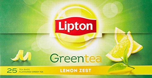 Lipton Lemon Zest Green Tea Bags, (25 Pieces)