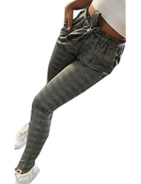 Primavera Mujeres Casual Vendaje Nueve Puntos Pants Moda Slim Pantalones Pitillo Oficina
