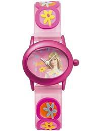 Barbie B273 - Reloj analógico de cuarzo para niña con correa de plástico, color rosa