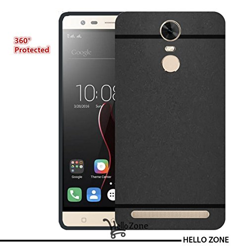 Hello Zone Exclusive Matte Finish Soft Back Case Cover For Lenovo Vibe K5 Note/Lenovo Vibe K5 Note (2017 Edition) -Black