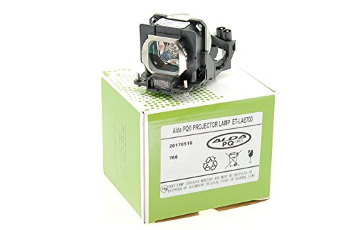 Alda PQ® Premium, Beamerlampe ET-LAE700 / PT-AE700 für PANASONIC PT-AE700, PT-AE700E, PT-AE700U, PT-AE800, PT-AE800E, PT-AE800U Projektoren, Lampe mit Gehäuse