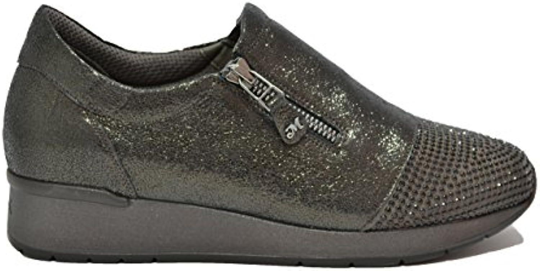 Melluso Slip on scarpe da ginnastica Zeppa Piombo Scarpe Donna Walk Techno R25013 | Lascia che i nostri beni escano nel mondo  | Uomo/Donna Scarpa