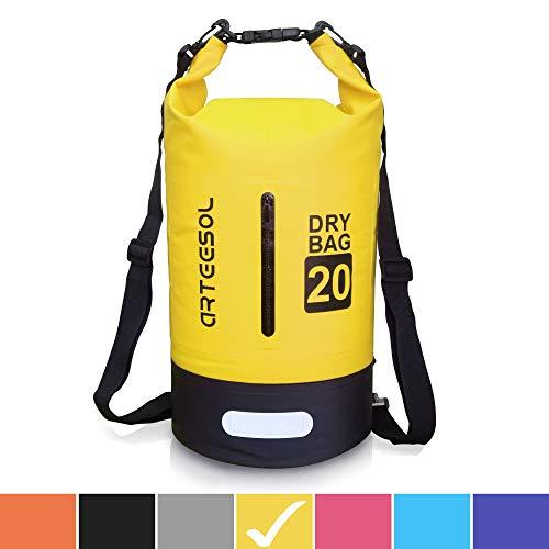 715a2c6dba53 Arteesol Dry Bag - Mochila Impermeable con Doble Correa para el Hombro para  natación, Kayak, Barco, Pesca, Viajes, Ciclismo, Playa, 4 Colores, ...