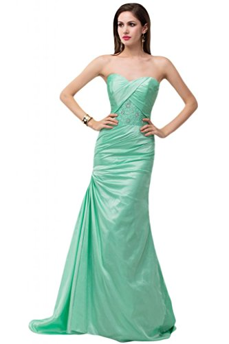 Sunvary Scialle in Chiffon Pageant Gowns decorazioni da sera, con parte posteriore aperta Giallo