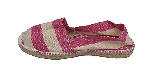Alpargatus Alpargata-Rayé-Plat Enfant Unisexe Multicolore - Rosa / Crudo